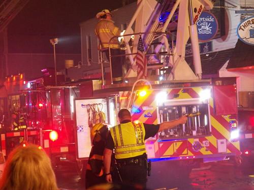 消防士 火事の現場