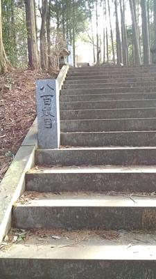 日本一の石段800段目
