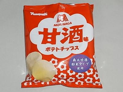 『甘酒味ポテトチップス』山芳製菓 パッケージ