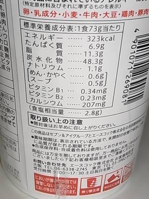 セブンプレミアム チリトマト味ヌードル 表示